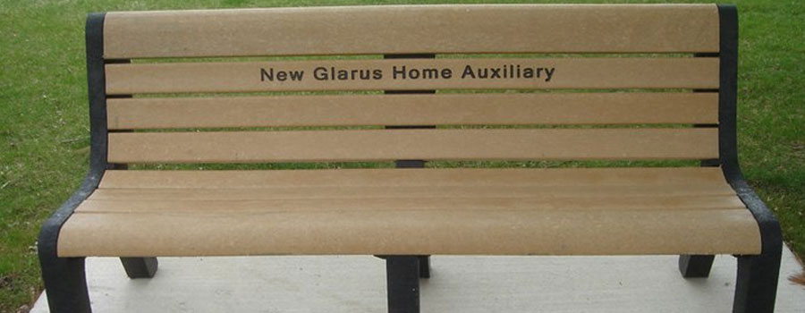 Recycled Plastic Engraved Memorial Park Benches -  Allen Ventures